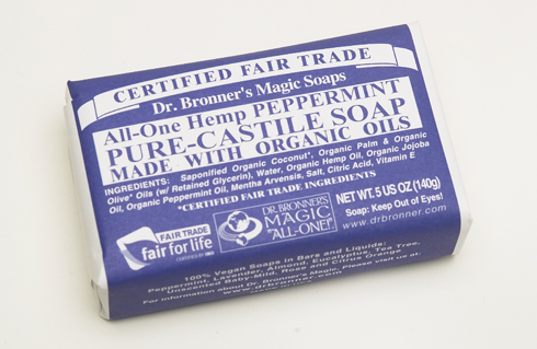 I use (Dr. Bronner's) Castile Soap, which is a natural soap made from vegetable oils and hemp. But you could just as easily use Dove bar soap or your ...