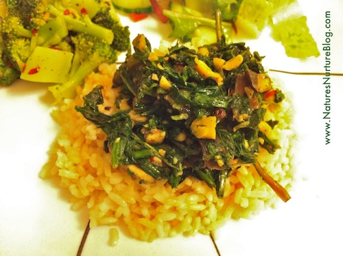 dandelion greens and spinach stir fry recipe