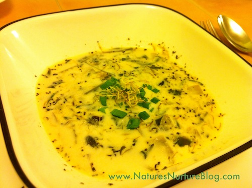 cream of dandelion soup