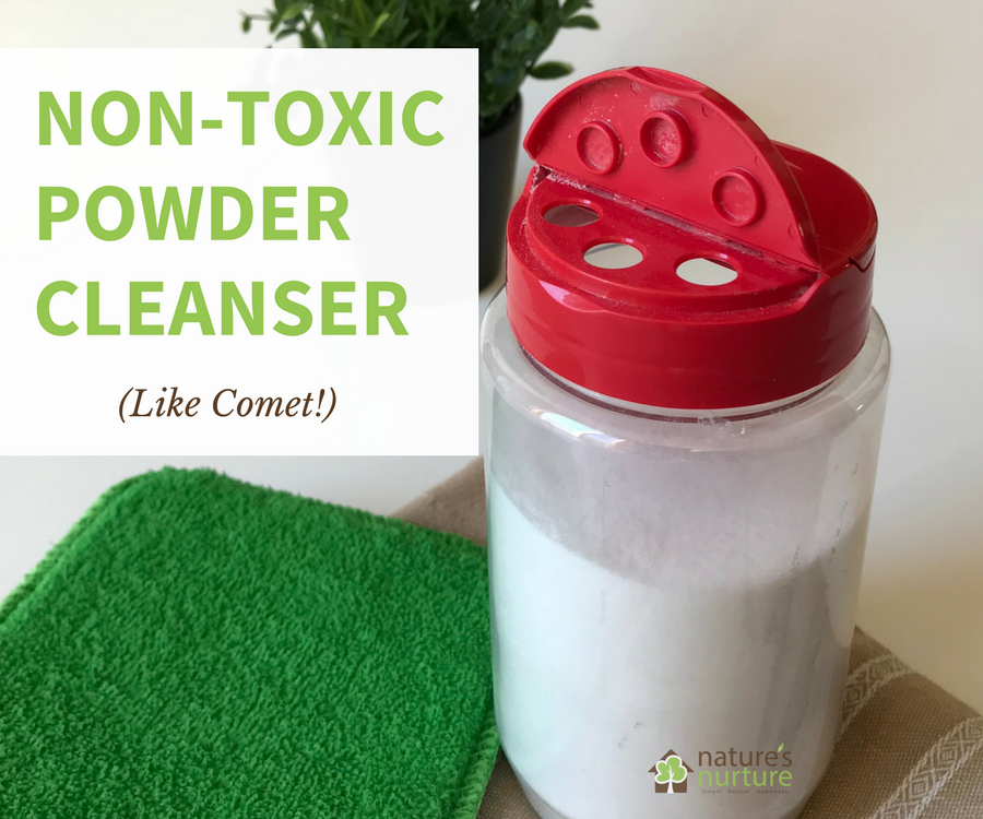 Ditch the harmful chemicals, and make this non-toxic scouring powder with 2 simple ingredients. Use it on sinks, tubs, stainless steel, and more!