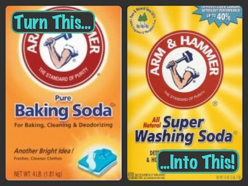 turn baking soda into washing soda