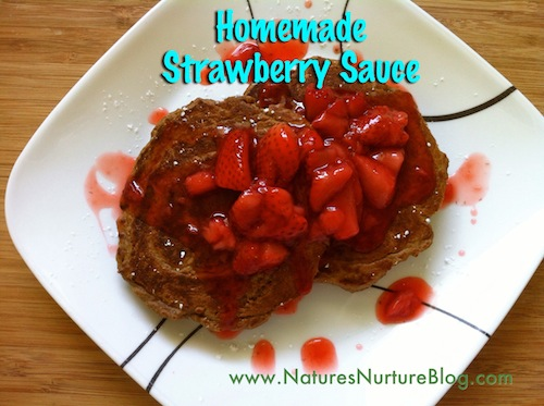 homemade strawberry sauce or syrup