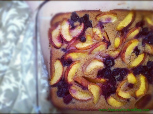 very berry peach cobbler