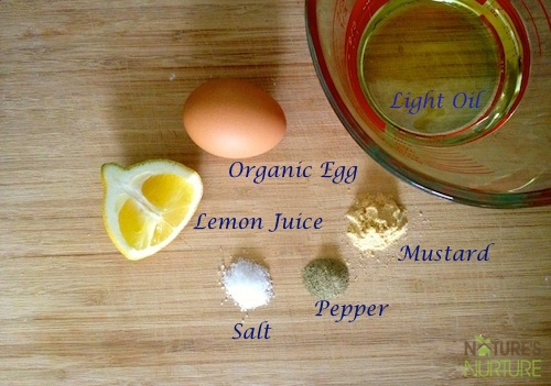Homemade Mayo - ingredients