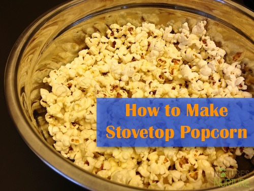 Homemade Stovetop Popcorn