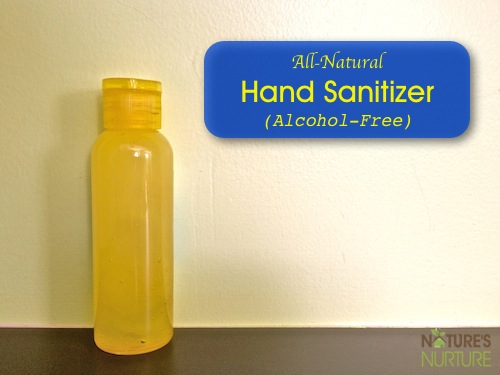 Homemade Natural Hand Sanitizer (Alcohol-Free)