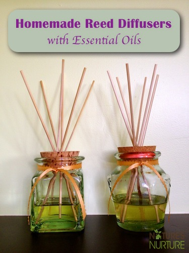 Make your own essential oil reed diffusers for a natural fresh scent in your home! They're cheaper and safer than the commercial diffusers, and you can customize your own fragrance blends with essential oils.