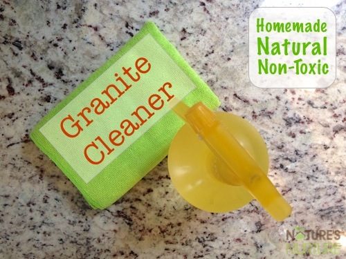 This homemade granite cleaner is all-natural with non-toxic ingredients, and is completely safe for granite and other stone surfaces!