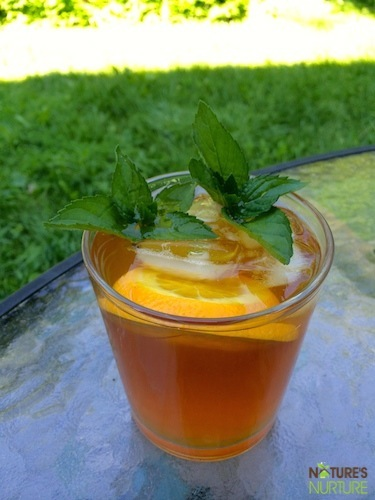 Iced Mint And Citrus Tea Recipe — Dishmaps