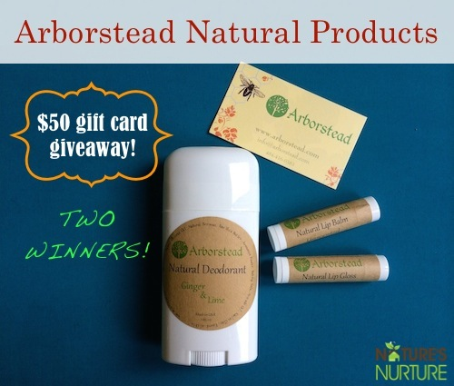 Arborstead Natural Products Giveaway