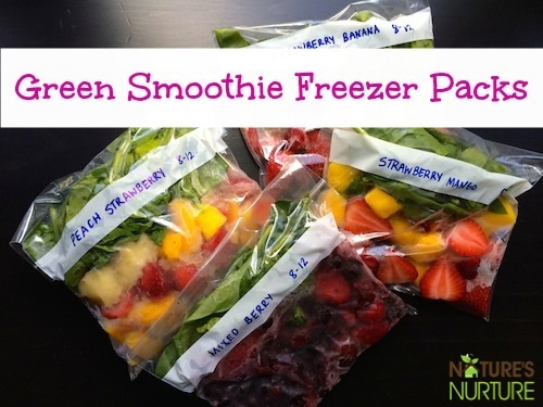 Green Smoothie Freezer Packs