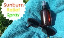 Homemade Sunburn Relief Spray