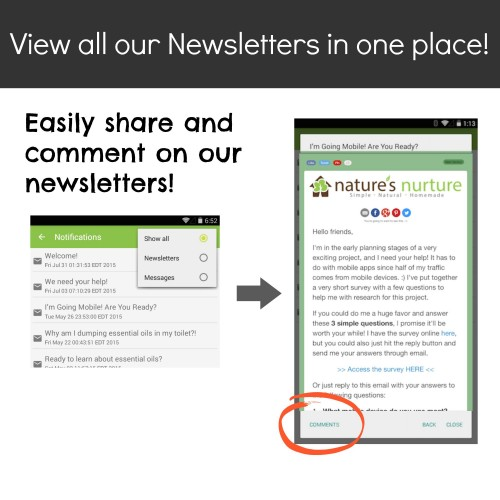 Newsletter Screenshot Android