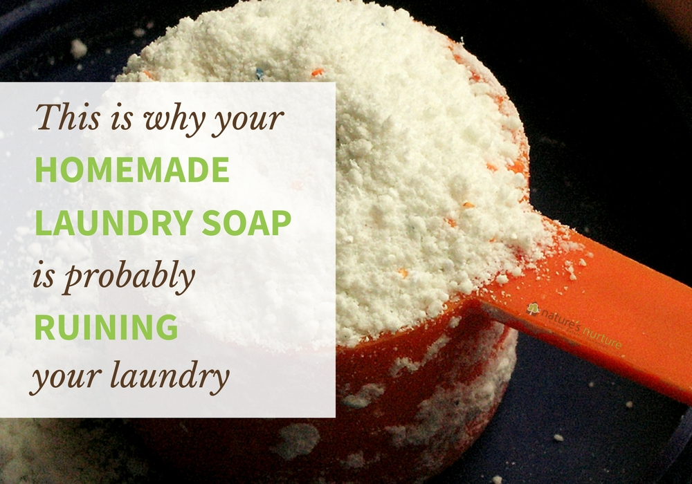 Here's Why Your Homemade Laundry Soap