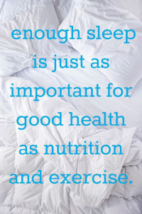 Healthy Sleep as Important as Nutrition and Exercise