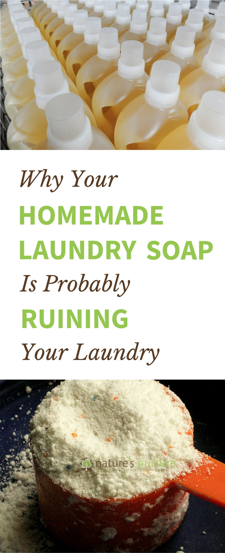 There's a big problem with your homemade laundry soap, and you're not going to like it. Read this before doing your next load of laundry!