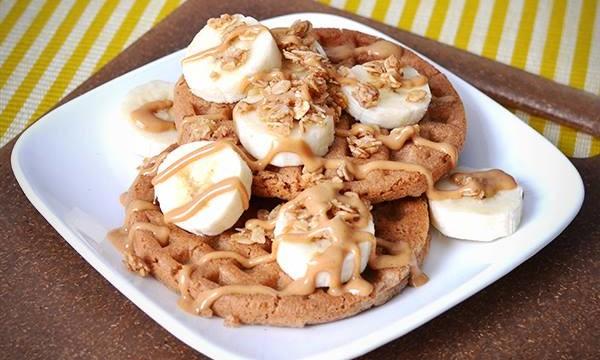 Banana, Granola & Peanut Butter Waffles (And a Giveaway!)