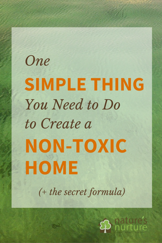 Create a Non-Toxic Home with this ONE simple thing you need to do right now! Take 5 minutes to read this. It just might change the way you think