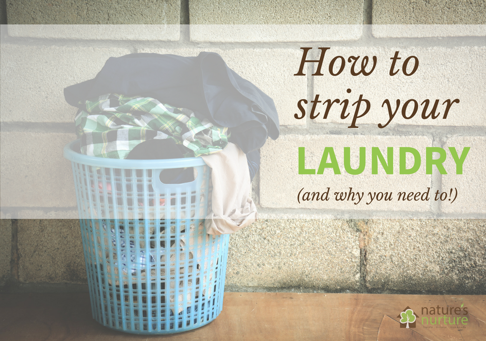 Learn how to strip your laundry of soap and mineral buildup - especially important if you've been using homemade laundry soap!