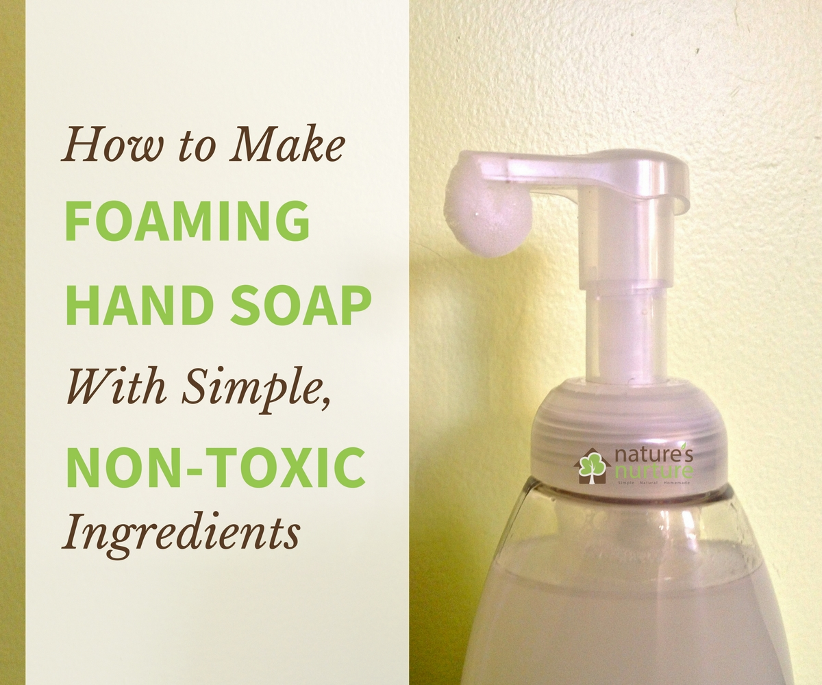 See how quick and easy it is to whip up a batch of non-toxic foaming hand soap - and without the harmful chemicals in conventional soaps.