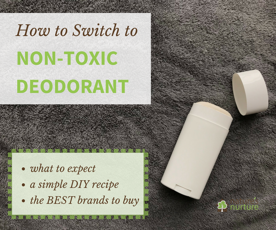 What's really hiding in your deodorant? Find out how (and why) to switch to a non-toxic deodorant, with a simple homemade recipe and the safer alternatives you can find at the store!
