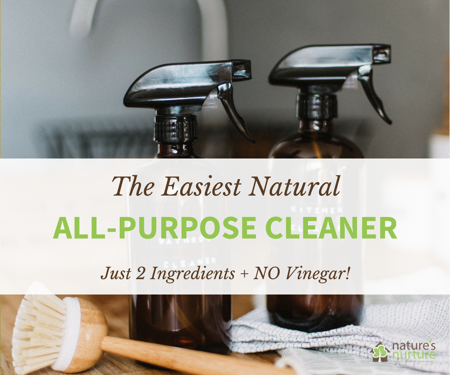 This natural all-purpose cleaner is very quick and easy to make with just 2 ingredients. No vinegar in this recipe, it smells great, and it works!