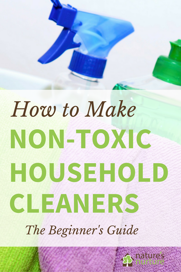 The beginner\'s guide to making your own homemade non-toxic household cleaners. Rid your home of harmful chemicals, one cleaning product at a time.