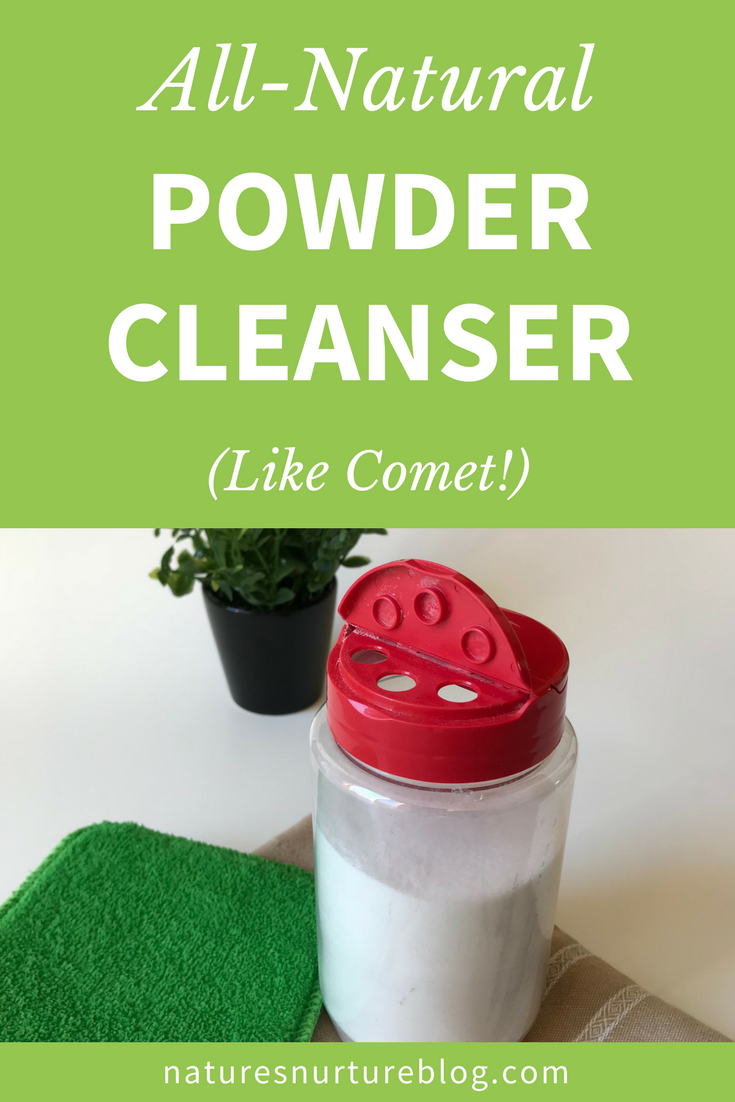 Non-Toxic Scouring Powder Cleanser (Like Comet!)