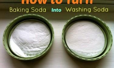 Turn Baking Soda Into Washing Soda