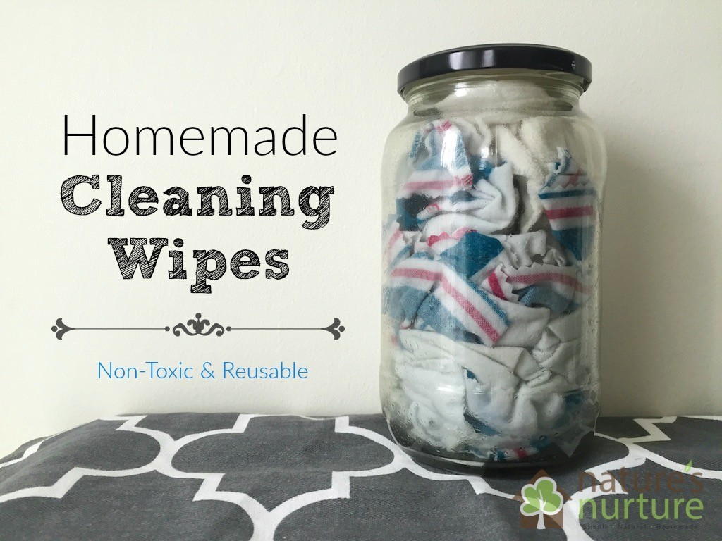 Homemade Cleaning Wipes - Make your own DIY reusable cleaning wipes. All natural and non-toxic.