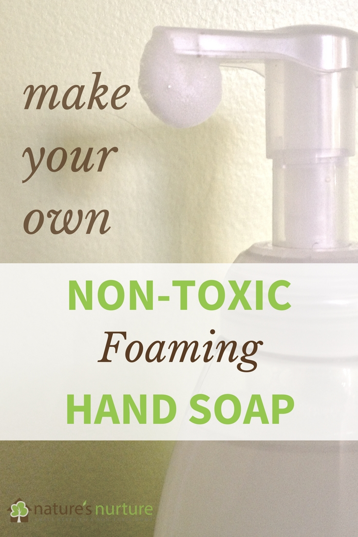 See how quick and easy it is to whip a batch of non-toxic foaming hand soap - and without the harmful chemicals in conventional soaps.