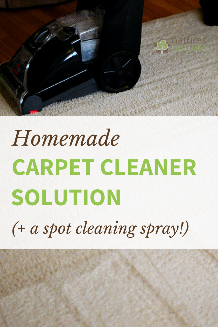 Homemade Carpet Cleaner Solution & Spray
