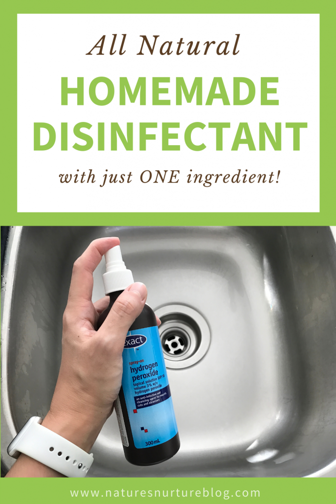 Ditch the bleach and toxic fumes, and learn how to make this natural homemade disinfectant spray with a simple ingredient you probably already have at home!